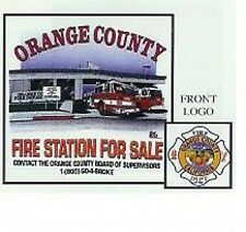"ORANGE COUNTY (CA) FIRE ""FIRE STATION FOR SALE"" SHIRT (L) ASH RECESSION OCFA"