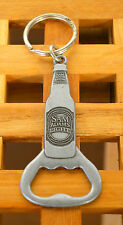 """Sam Adams Light"" Keychain Keyring Key Chain Ring Silver Tone Metal"