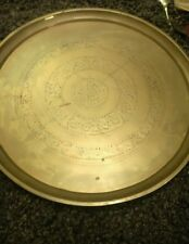 antique ethnic brass circular tray,benares table top