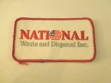 Vintage National Waste and Disposal Inc. Logo Iron On Patch- Company in Oklahoma