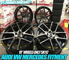 "19"" VW Golf GTi Clubsport Brescia Style Wheels - Gloss Black Pearl MK5 6 7 A3"