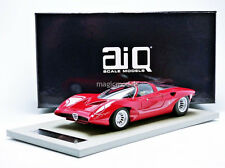 AIQ 1968 Alfa Romeo 33.2 Special Pininfarina Red LE of 150 1/18 New In Stock!