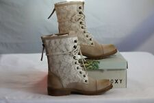 "ROXY WOMEN'S ""CONCORD"" OAT CASUAL STYLISH COMBAT BOOTS size 6 / Six"