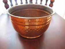 COPPER CONTAINER VINTAGE HAMMERED-FINISH INDOOR/OUTDOOR PLANTER VGC