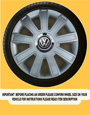 SILVER WHEEL TRIMS HUB CAPS COVERS 16 INCH  Vw Transp.T5,Beetle,Passat SET OF 4