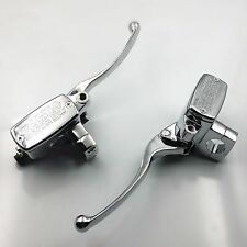 "Chrome 1"" 25mm Handlebar Reservoir Brake Hydraulic Clutch Master Cylinder Lever"