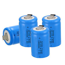 4 pcs Anmas Power 4/5 Sub C SC 1.2V 1400mAh NiCd Rechargeable Batteries ,Blue