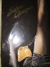 NEW WOLFORD Satin Opaque 11277 Nearly Black Tights Pantyhose Medium 45 Den Rare