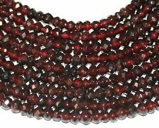 "AAA 14"" St Almandine Garnet Faceted Rondelle  Beads 7x4mm"
