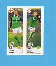 PANINI-EURO 2016-Figurina n.324- DALLAS+LAFFERTY -IRLANDA NORD-NEW BLACK