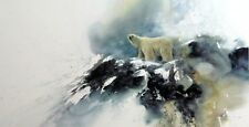 "Arctic Solitude Bear Print By Morten Solberg 29"" x 15"" Signed and Numbered"