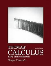 Thomas' Calculus Early Transcendentals Single Variable Part 1 by Thomas