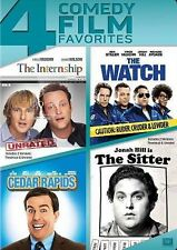 The Internship/The Watch/Cedar Rapids/The Sitter (DVD, 2014, 4-Disc Set) GREAT!