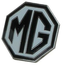 "MG octagon lapel pin - Black white 5/8"" size"