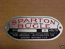 Sparton Bugle Horn Acid Etched Aluminum Data Plate