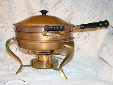 Vintage Copper And Brass Doubleboiler Food Warmer Chafing Dish