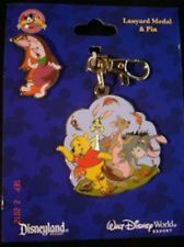 Disney Lanyard Medal and Pin Set - Winnie the Pooh and Friends