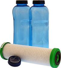 Carbonit NFP Premium Filter und 2 x 1 Liter Flasche für den Durst unterwegs