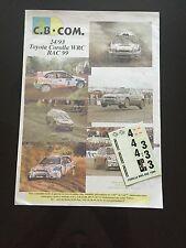 DECALS 1/24 TOYOTA COROLLA WRC AURIOL RALLYE RAC GRANDE BRETAGNE 1999 RALLY