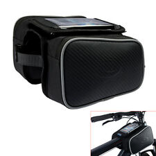Bicycle Bike Cycling Pannier Front Tube Bag Pouch Double Side for iPhone 6S 6