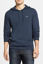 LACOSTE JERSEY HOODIE DARK INDIGO BLUE MENS SIZE 4 SMALL NEW WITH TAGS $85