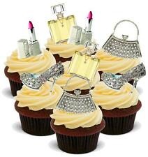NOVELTY VALUE PACK BLING MakeUp Handbag Shoe MIX 20 Cake Toppers Birthday