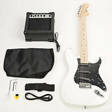 New School 15w AMP ST Burning Fire Electric Guitar with Black Fender White
