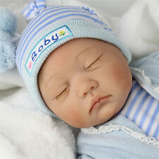 "Reborn Sleeping Baby Newborn 22"" Handmade Lifelike Boy Doll Silicone Vinyl"