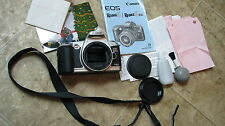 EOS Rebel G film BODY ONLY camera Canon lens cap manual strap