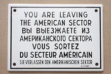 Ella los abandonado...... americano email escudo Berlín oeste enamel sign 17x12 s13