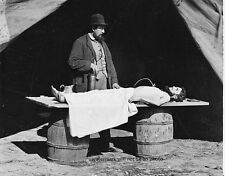 """Embalming Surgeon at Work on Soldier's Body 8""""x 10"""" Civil War Photo Picture 130"""