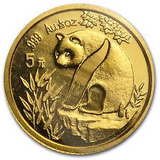 1993 China 1/20 oz Gold Panda Small Date BU (Sealed) - SKU #78201