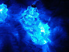 3D CRYSTAL CHRISTMAS TREE BLUE LED LIGHT CURTAIN Up to 180cm window width BOXED