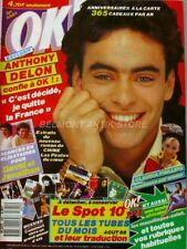 OK Magazine n°655 - 1988 - Anthony Delon - Claudia Philipps - David Jonathan
