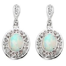 VICTORIA WIECK ETHIOPIAN OPAL TOPAZ FRAME STERLING SILVER EARRINGS HSN $179.95