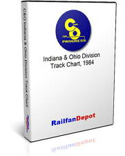 C&O Track Chart Western Business Unit Indiana Ohio - PDF on CD - RailfanDepot