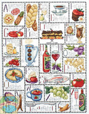 Cross Stitch Kit ~ Design Works Gourmet ABC Food & Wine Home Sampler #DW2426
