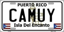 CAMUY Puerto Rico Novelty State Background Metal License Plate