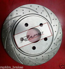 HOLDEN COMMODORE VR VS WITH ABS INC UTE FRONT BRAKE DISC ROTORS -SLOTTED + PADS