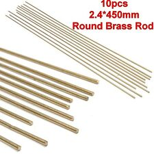 10pcs 2.4x450mm Gold Solid Round Bar Lathe Brass Rod Tools For Riveting Cutting