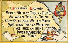 POSTCARD   COMIC   YORKSHIRE  SAYINGS  Heres  hilth to thee an thine.....