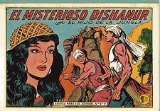 """EL HIJO DE LA JUNGLA Nº5""""EL MISTERIOSO DISHAMUR""""by GAGO&GAGO VALENCIANA-FACSIMIL"""