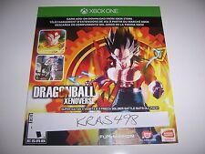Xbox One 1 Dragonball XV Xenoverse Day One Bonus Content Voucher Only DLC RARE!