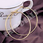 18K 80mm 8cm Silver Gold Plated Big Extra Large Hoop Golden Nickle Free Earrings