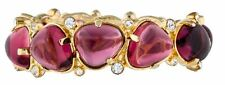 Kenneth Jay LANE KJL Gripoix Poured Glass Bracelet Amethyst CUFF Bracelet Bangle