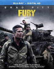 Fury Blu-ray Disc 2015 Mastered in 4K Brad Pitt FAST SHIPPING