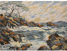 Seascape  Scene  Paint By Number  Refrigerator / Tool  Box  Magnet