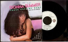 """DONNA SUMMER - There Goes My Baby / Maybe It's Over - SPAIN SG 7"""" Wea 1984"""