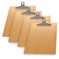 Lot of 5PCS Wooden A4 File Clip Writing Board Document Clipboard Office Supplies