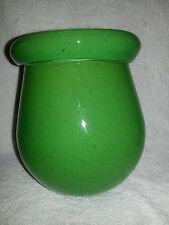 Green milk glass vase/jar